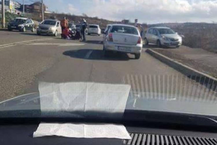 Accident GRAV pe varianta Zorilor - Mănăștur! Două mașini și o motocicletă sunt implicate - FOTO