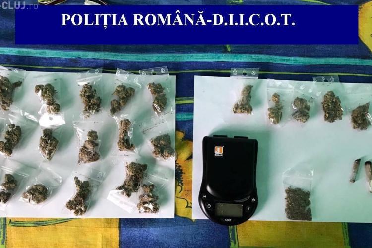 Șase persoane reținute de polițiștii clujeni într-un dosar de trafic de droguri