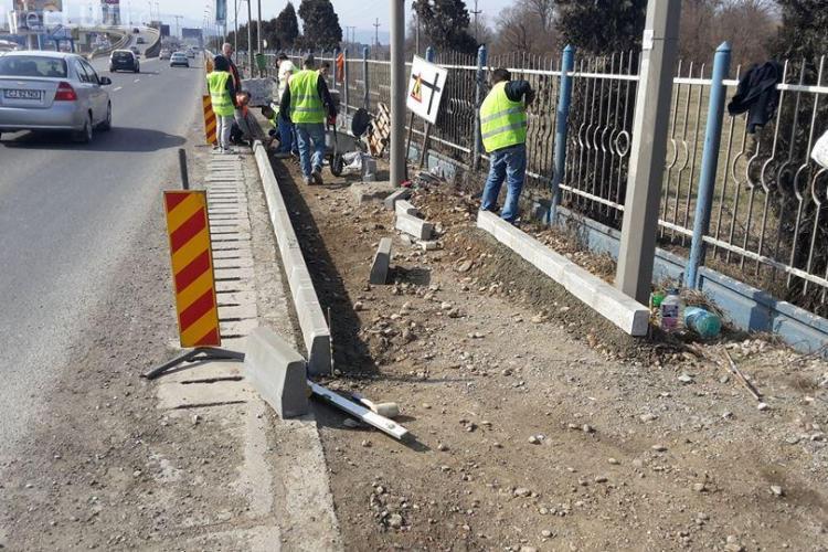 Florești: Pe strada Avram Iancu sunt realizate trotuarele