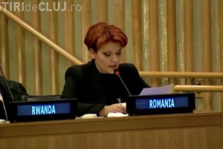 Lia Olguța Vasilescu nu se lasă. După ce a devenit virală vorbind în engleză, acum a susținut un discurs în franceză VIDEO
