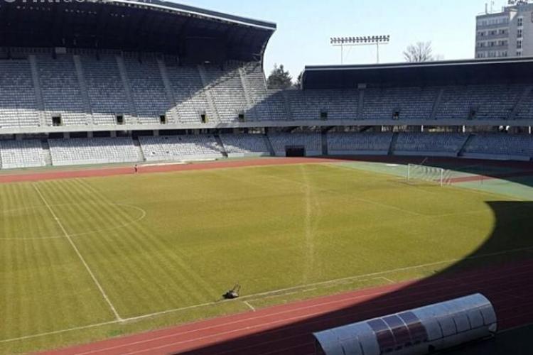 Cum se prezintă gazonul de pe Cluj Arena înainte de meciul cu Danemarca
