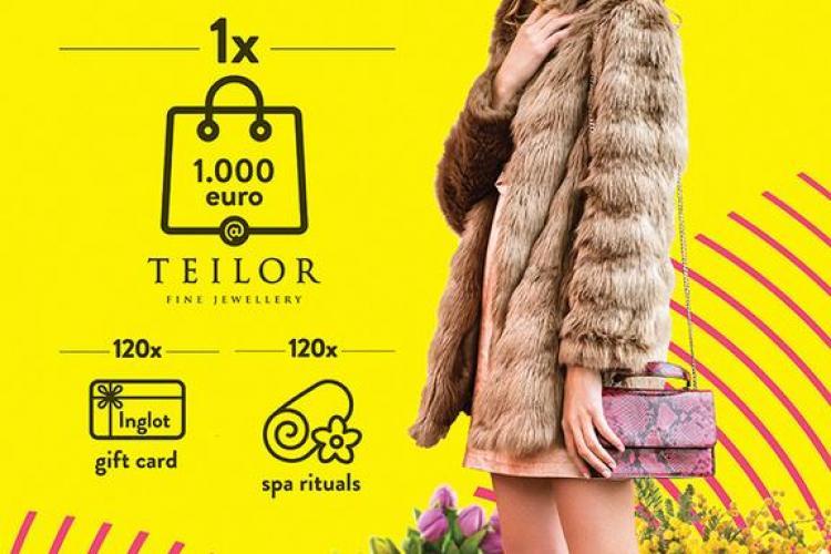 Iulius Mall Cluj premiază femeile, de ziua lor: Bijuterii în valoare de 1.000 euro și sute de alte cadouri (P)
