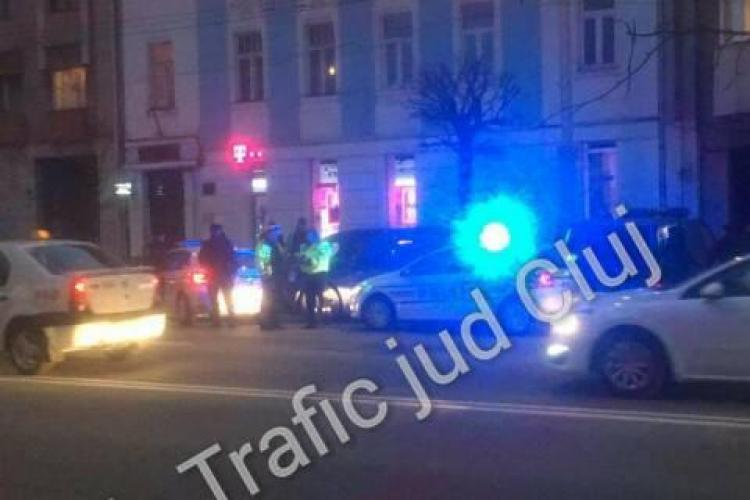 Mașină încolțită de polițiști la Cluj. Ce s-a întâmplat de fapt FOTO