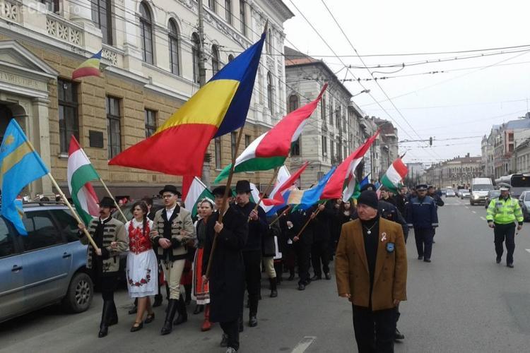 Restricții de circulație în centrul Clujului, cu ocazia Zilei Maghiarilor de Pretutindeni.