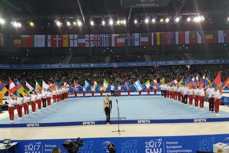 Momente MAGICE de dans și muzică la ceremonia de deschidere a Campionatelor Europene de Gimnastică de la Cluj - VIDEO
