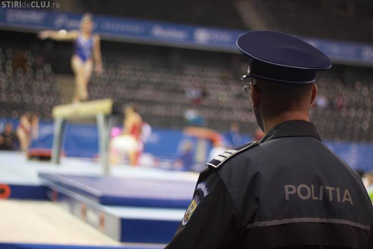 Peste 100 de polițiști vor asigura paza în timpul Campionatelor Europene de Gimnastică de la Cluj. Ce recomandă oamenii legii
