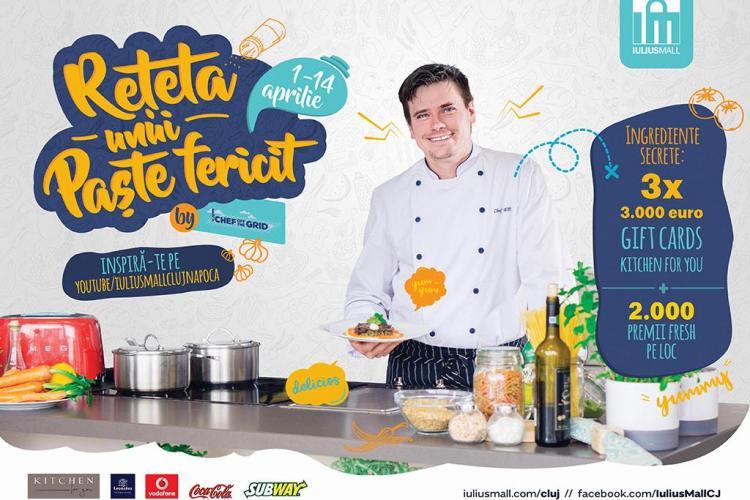 Iulius Mall Cluj îți arată rețeta unui Paște fericit și oferă trei bucătării complet echipate, în valoare de 9.000 euro (P)