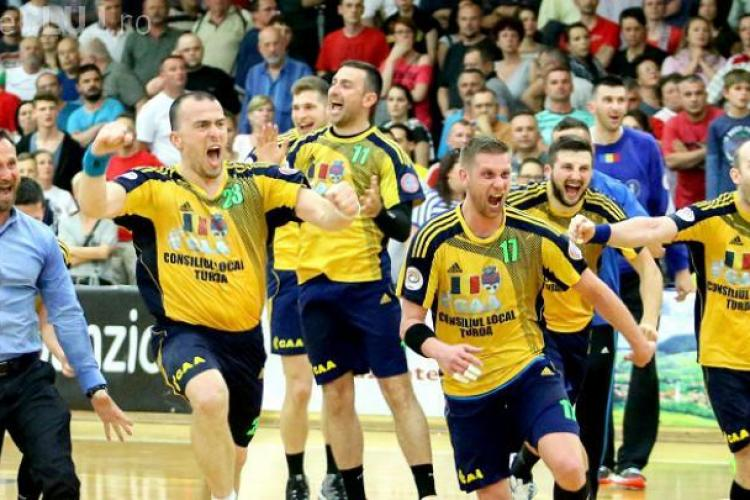 CLUJ: Echipa de handbal masculin Potaissa Turda s-a calificat în finala Cupei Challenge. Cu cine se luptă pentru trofeu