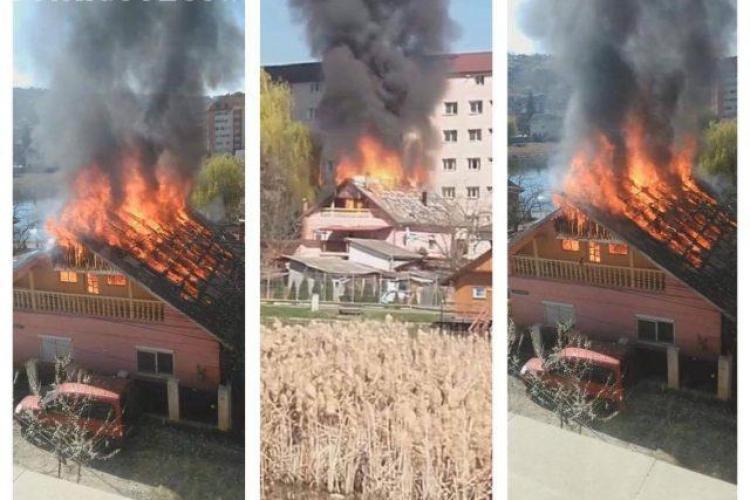 CLUJ: O familie din Dej a rămas fără locuință, în urma unui incendiu violent VIDEO