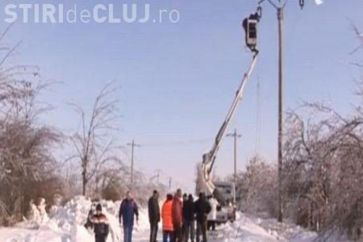 Localități din Cluj fără curent electric de 26 de ore