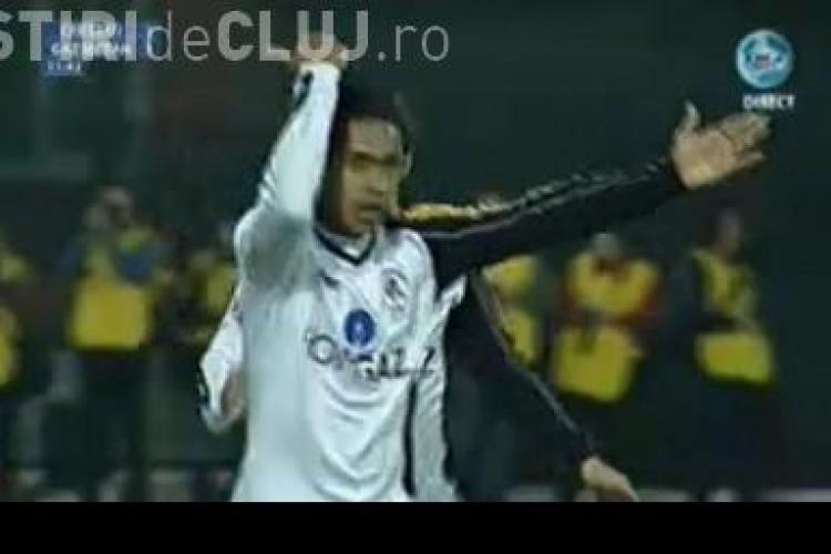 Gol Eric! Sutul brazilianului a fost deviat de Edimar. CFR Cluj - Gaz Metan Medias 1-1 / VIDEO