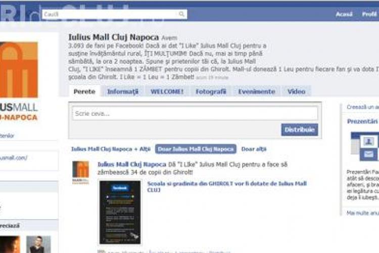 1 like= 1 leu= 1 zambet, pe Facebook pentru dotarea unei scoli si a unei gradinite dintr-un sat clujean