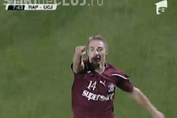 Gol Mihai Roman! Rapid - U Cluj 1-0 / VIDEO