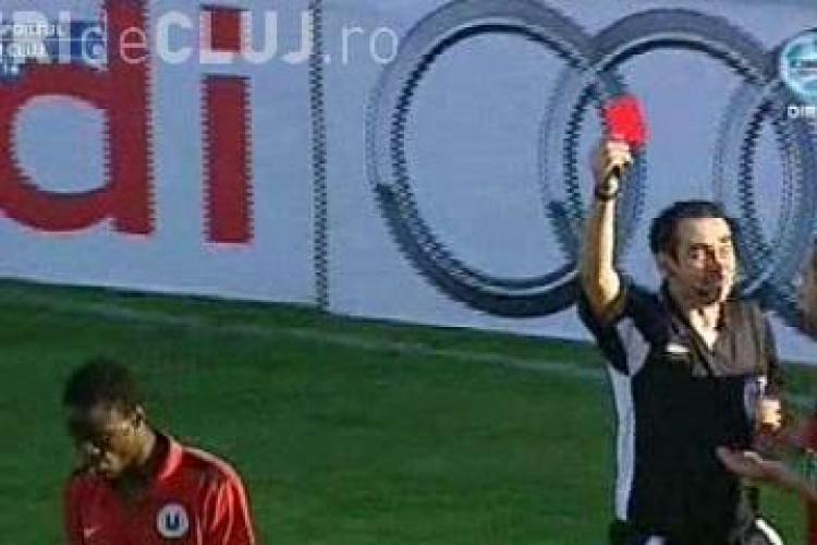 Gaston Mendy a fost eliminat dupa al doilea fault in careu. Varga a inscris! Sportul Studentesc - U Cluj 2-0 / VIDEO