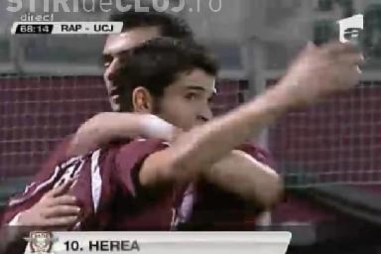 Hutan, spectator la golul din foarfeca a lui Herea / VIDEO