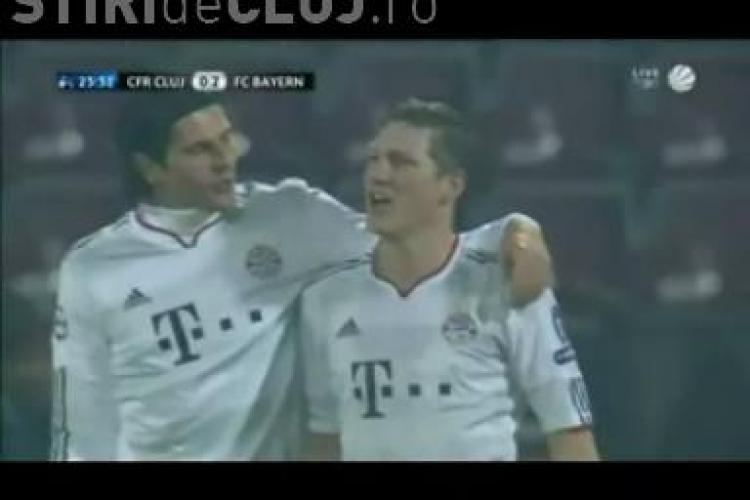 Dubla Gomez in meciul CFR Cluj - Bayern Munchen / VIDEO