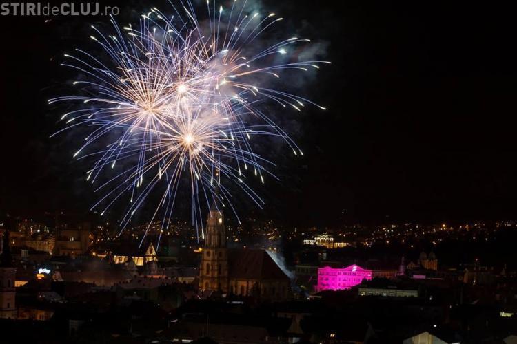 Foc de ARTIFICII spectaculos la Zilele Clujului 2017. Click pentru a-l vedea, dacă ați lipsit - VIDEO