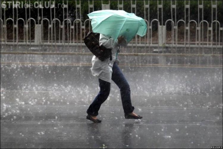 Clujul, sub COD GALBEN de ploi torențiale. Ce anunță ANM
