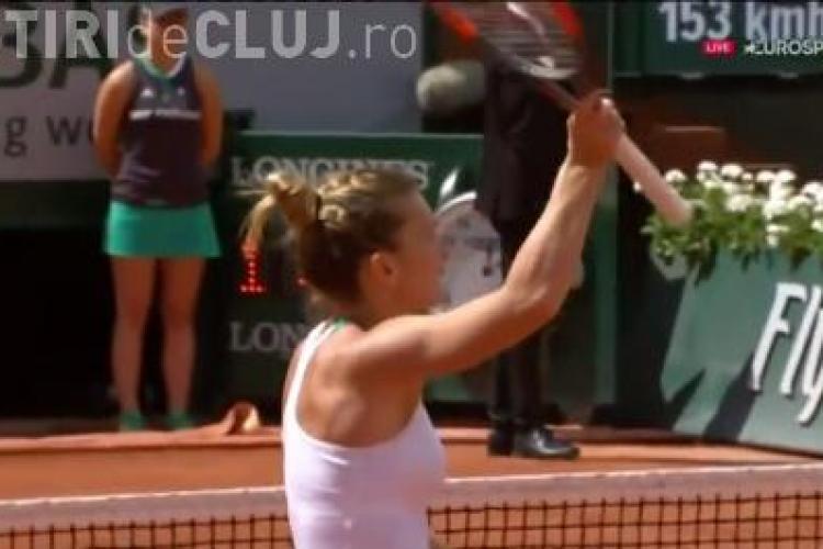 Victorie ZDROBITOARE pentru Simona Halep la Roland Garros. A ajuns rapid în sferturile de finală