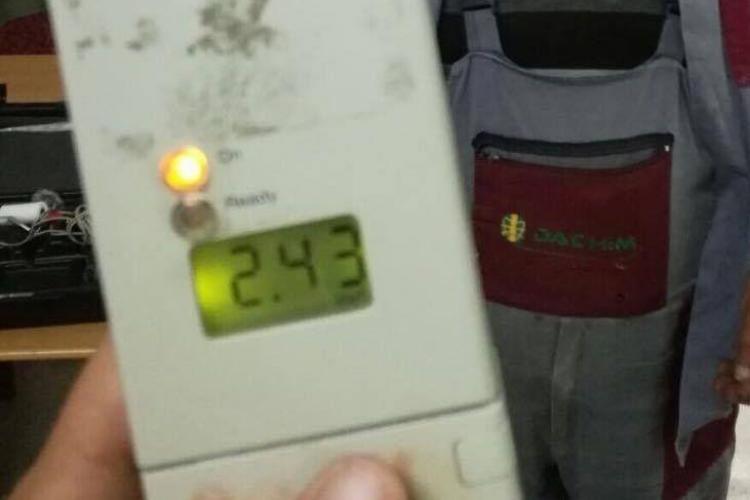 Cluj: Prins cu o alcoolemie de 2,40 mg/l MINȚEA că a băut o bere - VIDEO