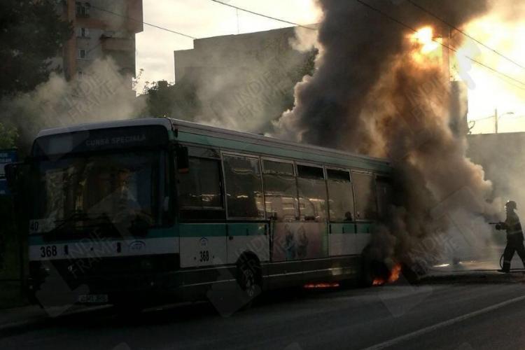 UPDATE Reacția CTP Cluj: Nu a luat foc niciun autobuz - FOTO