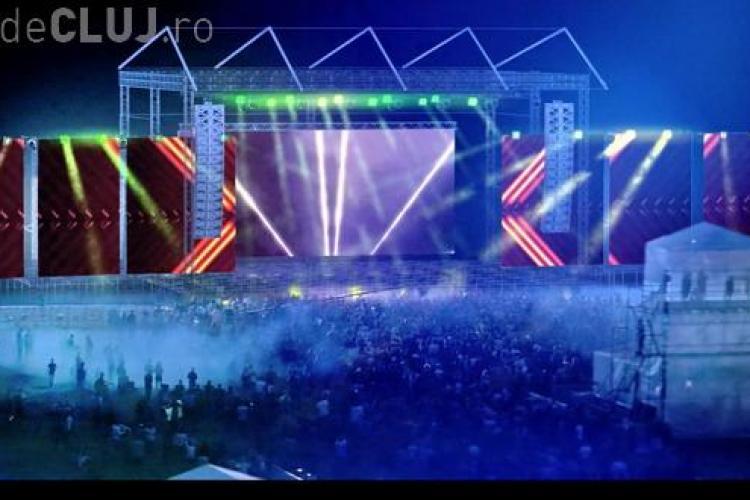"""Începe construcția """"orașului"""" Electric Castle. Anul acesta festivalul va avea unul dintre cele mai mari ecrane LED din Europa"""
