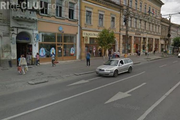 """Boc îngustează trotuarul din fața Consulatului Maghiar: """"Puțin, cu sub un metru"""" - VIDEO"""