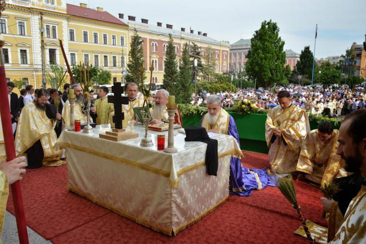Procesiunea de Rusalii prin centrul Clujului. Care este programul sărbătorii