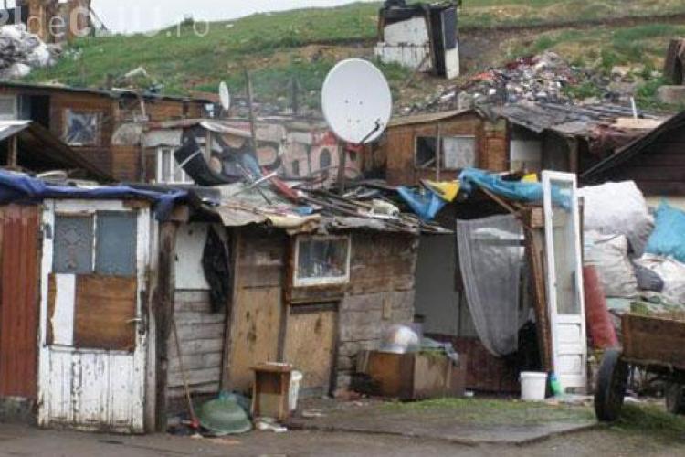 Protest în Apahida împotriva relocării romilor de la Pata Rât