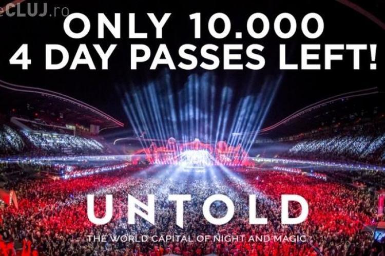 Mai sunt doar 10.000 de abonamente de 4 zile pentru UNTOLD