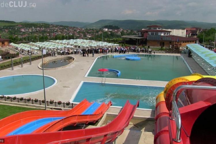 Cum arată Aquaparkul deschis la Dej! Cluj-Napoca e mult în urmă orașului cu 31.000 de locuitori - VIDEO