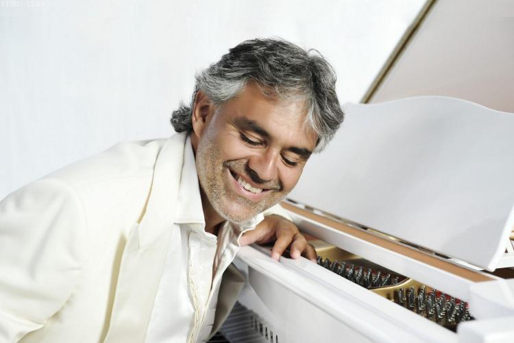 """Concert Andrea Bocelli la Cluj. Pe scenă va urca și Gheorghe Zamfir într-un """"Duet al Zeilor"""""""