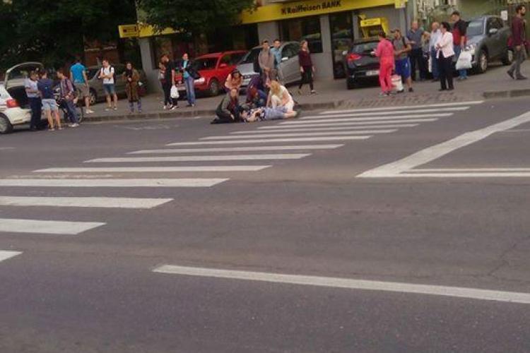 Un biciclist a lovit un pieton, pe strada Aurel Vlaicu. A intrat în plin în pietoni