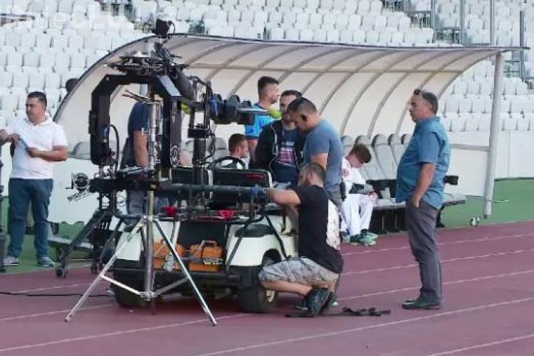 Doi actori de la Hollywood filmează la Cluj! Se lucrează intens pe Cluj Arena VIDEO