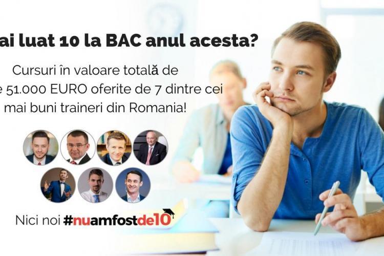 Sătul de GOANA după ZECE la BAC? Antreprenorul clujean Călin Biriș a lansat #nuamfostde10 și oferă burse de 50.000 de euro