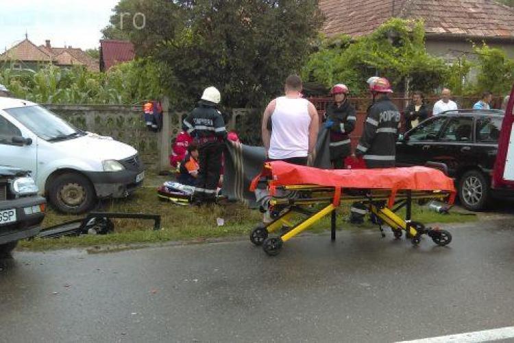 Accident grav la Gherla. O persoană a decedat în urma impactului - VIDEO