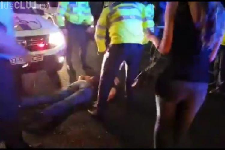 VIDEO - Momentul când Boureanu primește un pumn de la polițist și CADE LAT