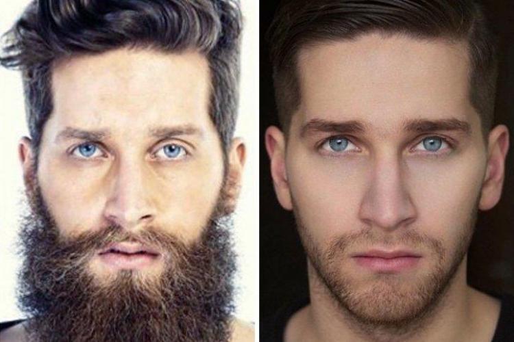 Cum arată bărbaţii cu și fără barbă! Majoritatea întineresc - FOTO