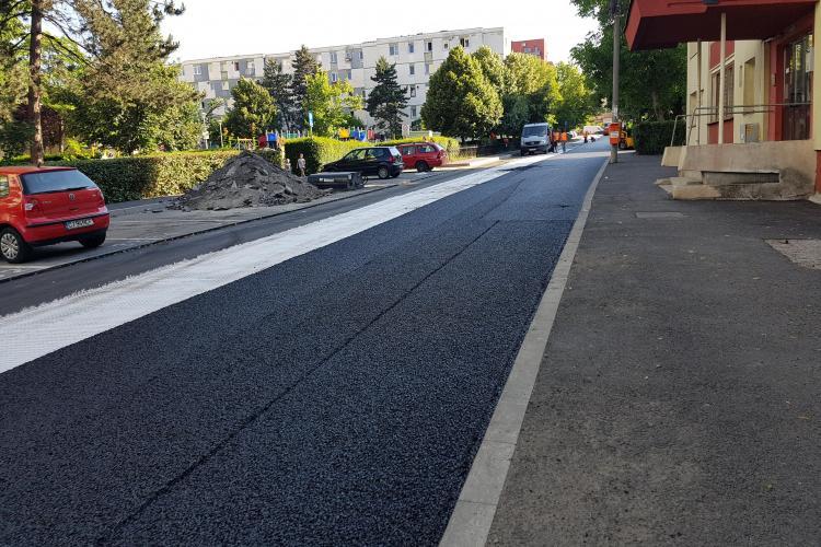 Asfaltare SUSPECT de rapidă în Gheorgheni: E RECORD - FOTO