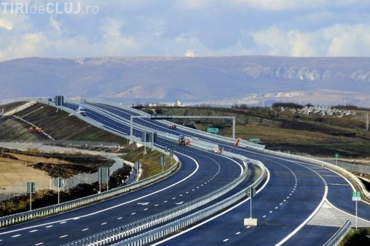 """Imagini aeriene cu Autostrada Transilvaniei: """"Ar fi mers nişte doine de jale"""", spun şoferii - VIDEO"""