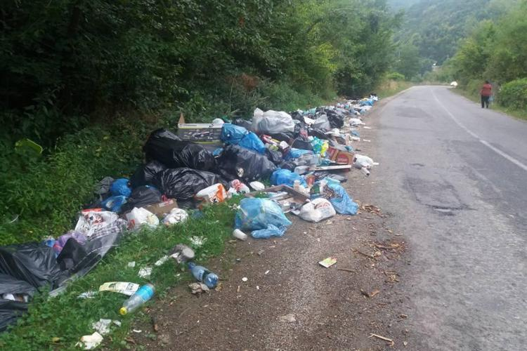 Clujenii chemați să curețe drumul Gilău - Tarnița, de care autorităților nu le pasă - FOTO