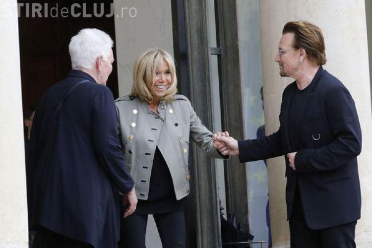 Brigitte Macron şi Bono s-au întâlnit pentru a găsi soluţii la problema sărăciei la nivel mondial