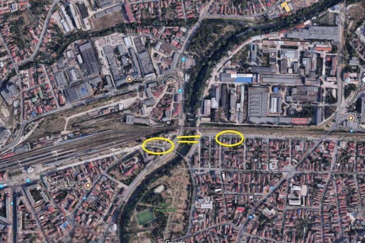 Propunere: Realizarea unui nou pod între strada Răsăritului și Decebal