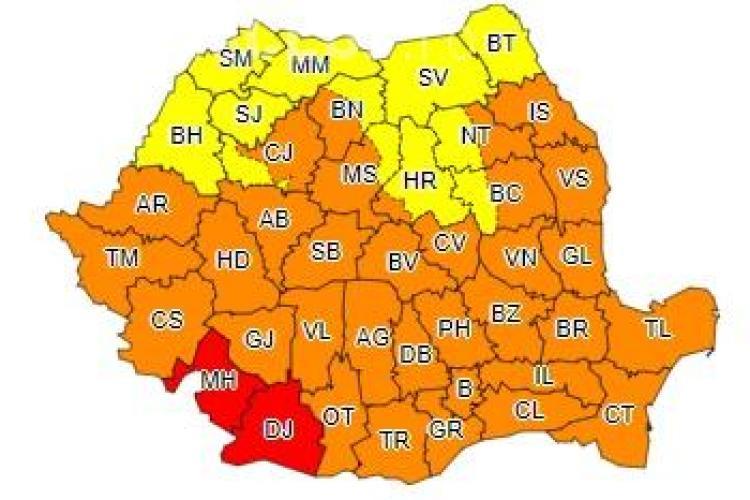 Clujenii nu scapă de căldură încă! ANM a emis un nou avertisment de caniculă