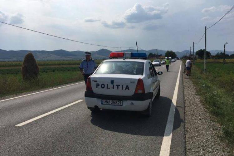 Accident grav pe un drum din Cluj. Un biciclist a ajuns în stare gravă la spital, după ce a fost lovit de mașină FOTO