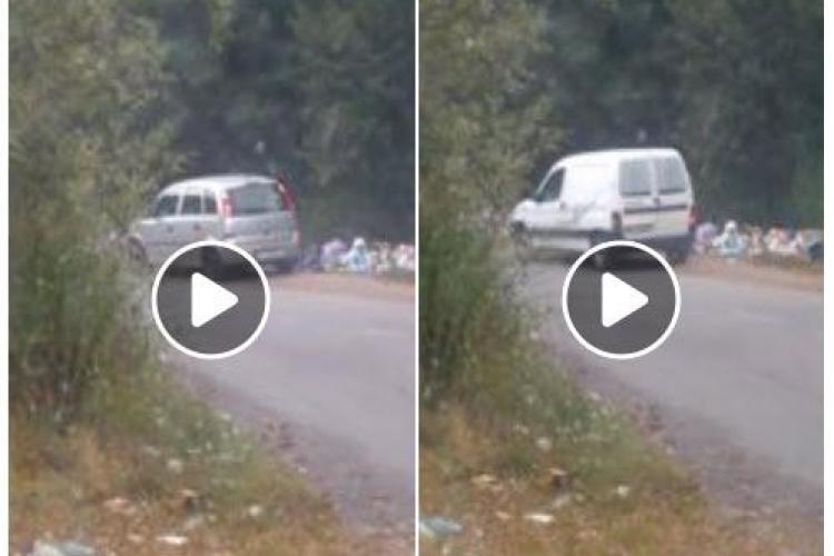 """Gilău - Tarnița: """"Animale"""" pe două picioare aruncă saci cu gunoaie lângă pădure - VIDEO"""