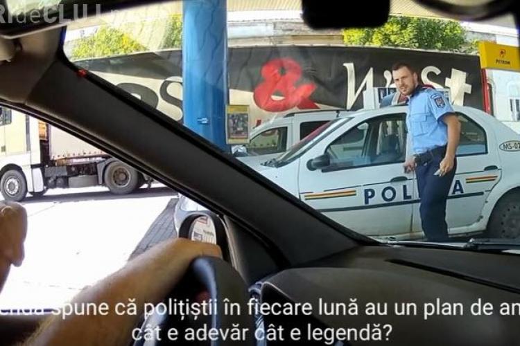 Cel mai sincer polițist, filmat de un clujean: Uneori rămân fără frână la mașina de Poliție - VIDEO