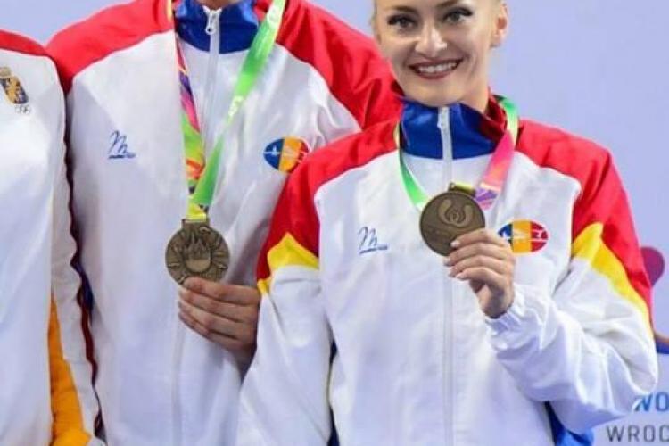 Clujeanca Andreea Bogati, argint pentru România la Jocurile Mondiale de gimnastică aerobică - VIDEO