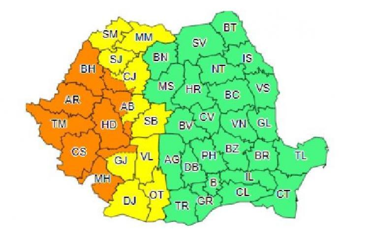 De la caniculă, la ploi torențiale! Meteorologii au emis cod portocaliu de furtuni pentru Cluj