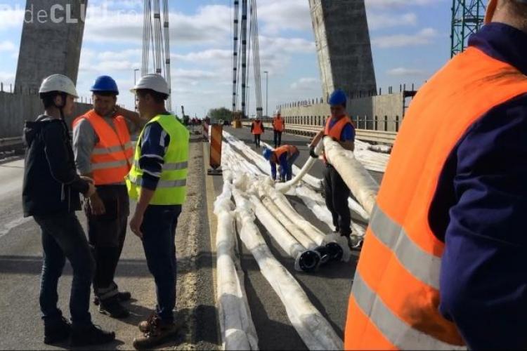 Inspecție la autostrada Sebeş-Turda: Lucrări slabe și calitatea slabă a materialelor